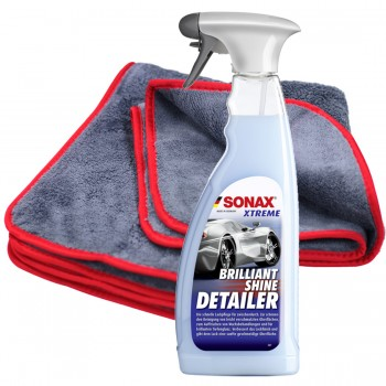 SONAX 750ml Brilliant Shine Detailer + Poliertücher