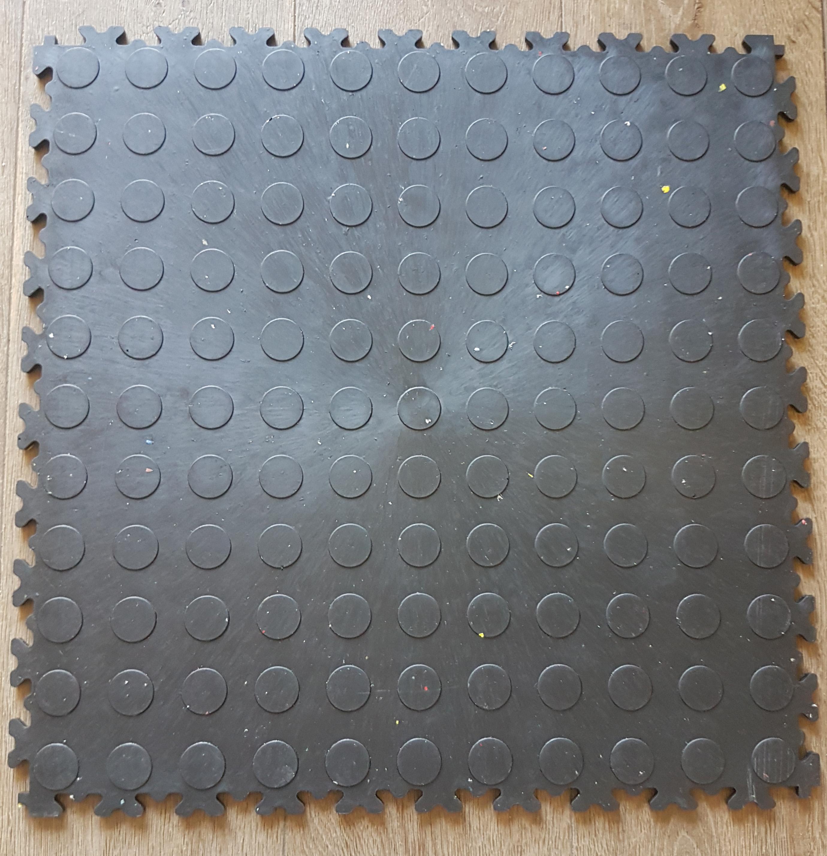 eco pvc 510 x 510 x 7mm werkstatt fliese noppen farbe schwarz werkstatt store. Black Bedroom Furniture Sets. Home Design Ideas
